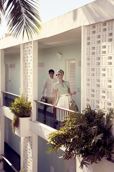 Shot on location in Acapulco, by Pasquale Abbattista and styled by Kathrin Seidel featuring models Sophie Holmes & Lucien Thomkins for Elle Germany May 2011.