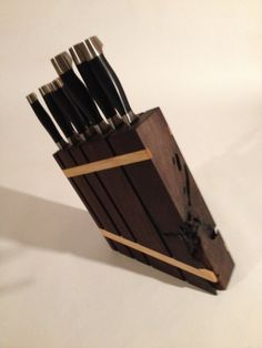 custom made knife block by Robertmadeit on Etsy