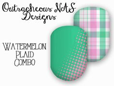 Pink and Green Plaid Custom Jamberry NAS  Design