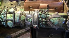 Beautiful collection of Southwest Native American turquoise bracelets