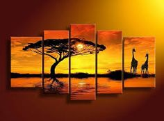 oil painting on sale at reasonable prices, buy hand-painted wall art African Water giraffe Home Decoration Modern Landscape Oil Paintings on canvas mixorde Framed from mobile site on Aliexpress Now! Oil Painting On Canvas, Canvas Wall Art, Orange Painting, Hand Painted Walls, Africa Art, Abstract Landscape, Art Pictures, Scenery Pictures, Framed Art