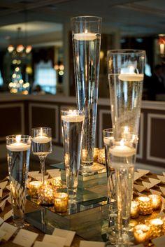 Photography by Leandra; glamorous ballroom wedding reception idea;
