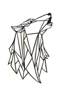 Résultats de recherche d'images pour «wolf geometric drawing»