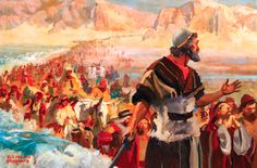 Joshua and the Israelites entering into the promised land
