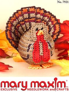 Use this pattern to make a plastic canvas turkey.