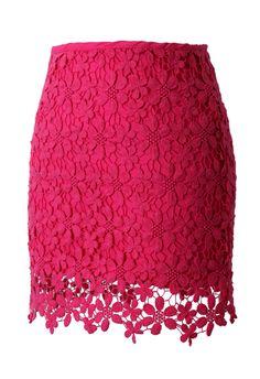 lace and crochet skirt.. love the hem!