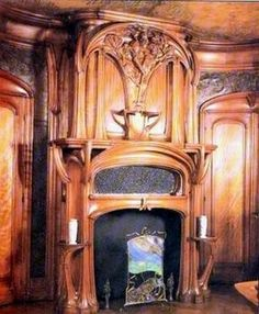 Eugene Vallin 1856-1922 fireplace
