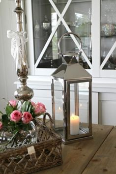 Lekker lykt av stål! H:54cm Candle Holders, Candles, Porta Velas, Chandelier, Pillar Candles, Lights, Candlesticks, Candle