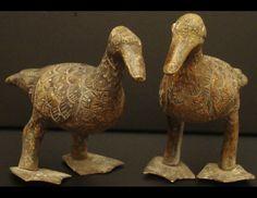 Tribal Art Treasures - Bronze Sankofa birds