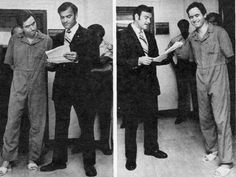 Ted Bundy, in prison garb in Tallahassee, listened impatiently, then dissolved into sardonic laughter as Sheriff Ken Katsaris read him the 1979 indictments in the Bowman-Levy murders.