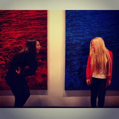 Solo Exhibition #afteRReality by #Pusenkoff & Pusenkoff @ Moscow Museum of Modern Art (Moscow MoMA) // the edge between the #digital and #analogue world // all #paintings are #acryl on #canvas // #grid #ModernArt #red #blue #pixel #girls #sea