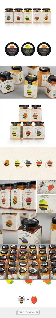 Honey + Berries #packaging designed by Masha Ponomareva (Russia) - http://www.packagingoftheworld.com/2016/03/honey-berries.html