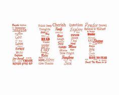 Live Typography Print Word Art by HausofAriella,