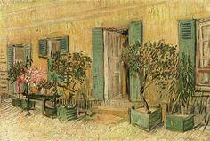 Vincent van Gogh - Exterior of a Restaurant at Asnieres [1887]