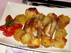 La buona cucina di Katty: Seppioline gratinate al forno con le patate e alici gratinate