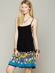 Free People FP ONE Imperial Palm Pintuck Dress, $69.95