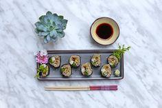 Raw Vegan Tuna Sushi