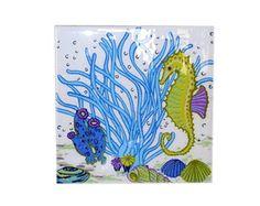 Quadrinho Azulejo Coral Azul