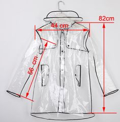transparent raincoat pattern - Google Search