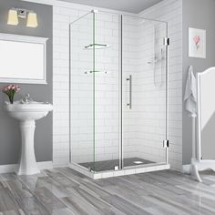 Coordinate your bathroom style with this Aston Bromley GS Frameless Corner Hinged Shower Enclosure with Glass Shelves in Chrome. Square Shower Enclosures, Frameless Shower Enclosures, Frameless Shower Doors, Glass Shelves, Storage Shelves, Room Shelves, Storage Ideas, Pivot Doors, Shower Base