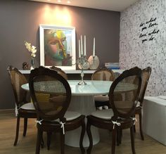Mesa de Jantar Paris em uma sala Clássica - Marcelle - Inusual - Smart Decor