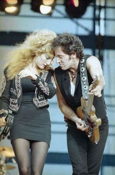 Patty Scialfa & Bruce Springsteen - 1988 | via if it's magic ~ Cityhaüs Design