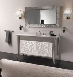Luxury model glossy moka with absolute white marble top