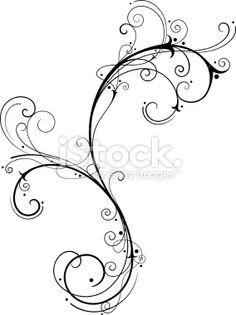 Fine Filigree royalty-free fine filigree stock vector art & more images of art Filagree Tattoo, Swirl Tattoo, Vine Tattoos, Irish Tattoos, Tatoos, Flourish Tattoo, Scroll Tattoos, Filigree Design, Free Vector Art