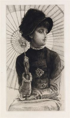 Artwork by James Tissot, L'Été, Made of Etching and drypoint on cream laid paper