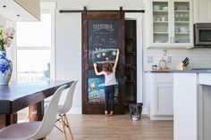 We are pleased to introduce the newest member to our sliding barn door line! Add a touch of creativity (and organization!) to any room in your house with our Chalkboard Barn Door. https://rusticahardware.com/chalkboard-barn-door/