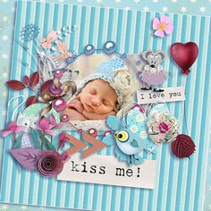 MINI KIT PURPLE LITTLE MOUSE BY KITTY-SCRAP http://scrapbird.com/kittyscrap-m-100.html with kind approval Photo by Iga Logan