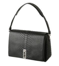 Proenza Schouler - PS Elliot Shoulder Bag Matte Python-13 | RESTIR リステア