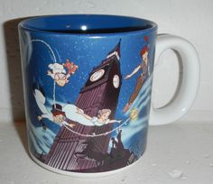 Walt Disney Classic Peter Pan Tinkerbell Tink Wendy Jon Peter Coffee Mug Cup in Collectibles, Disneyana, Contemporary (1968-Now) | eBay