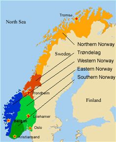 Northern Norway Map Of Driving Route Over Mountainous Terrain - Norway map with airports