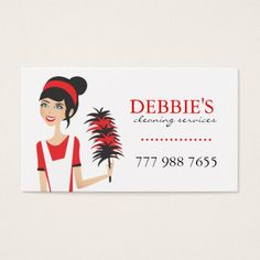 House cleaning maid business card pinterest cleaning maid whimsical house cleaning services business cards colourmoves