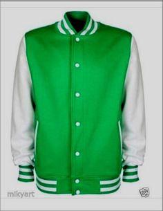 OCCASIONE Felpa uomo a giacca TAGLIA M bicolore verde e bianco stile college