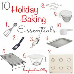 Baking Essentials and Christmas Cookies