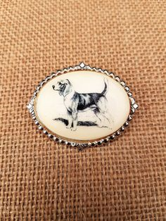 Vintage Dog Brooch by DirtyPopAccessories on Etsy