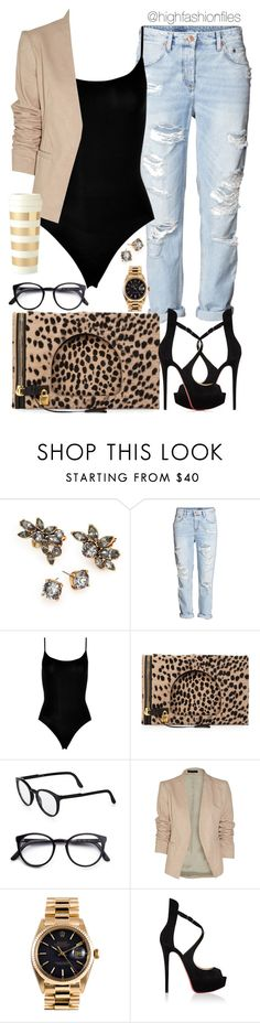 """""""Get to work"""" by highfashionfiles ❤ liked on Polyvore featuring Oscar de la Renta, SPANX, Tom Ford, STELLA McCARTNEY, Theory, Rolex, Christian Louboutin and Kate Spade"""