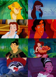 Stank faces ftw! I think Ariel's, Belle's, Meg's, and Aladdin's are the best. Mind you the only reason I think so is because of the part of the plot at which they are made. . . :P Disney freak much! LOLz. That's me for you!