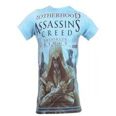 Assasins King Brooklys Blue Graphic T-shirt-₹299.00