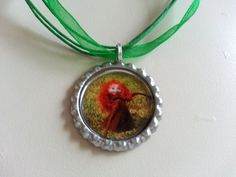Baby Merida Bottle Cap Necklace by KristyJsCreations on Etsy, $5.99