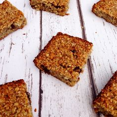 Clean and simple flapjack with no butter, refined sugar or flavourings. #vegan #cleaneating