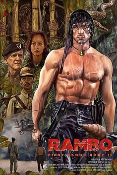 Best Movie Posters, Classic Movie Posters, Movie Poster Art, Classic Movies, Cult Movies, Top Movies, Action Movies, Great Movies, Rambo 3