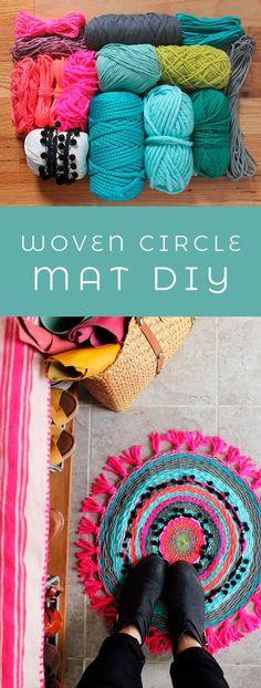 Woven Circle Mat DIY – A Beautiful Mess