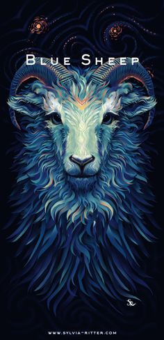 Blue Sheep - T-Shirt Design for MrSuicideSheep by SylviaRitter.deviantart.com on @DeviantArt