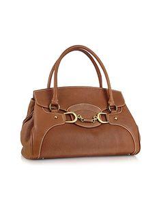 Buti |  Biscuit Italian Leather Satchel Flap Handbag