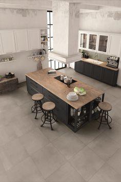 Il gres effetto cemento Portland Grey è la soluzione minimal e di tendenza per la tua cucina moderna. Le piastrelle grigie con finitura naturale sono ideali come pavimento e rivestimento in ogni stanza. | Gres porcellanato cemento | Pavimento grigio | Pavimenti grigi | Piastrelle quadrate | Pavimento cucina | Pavimenti cucina | Rivestimenti cucina | Rivestimento cucina | Idee cucina | Cucina design | #cucina #cucinamoderna  #pavimenti #gres #gresporcellanato #iperceramica #lamiacasaiper