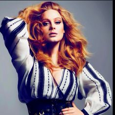 Adele in Vogue- loving that shade of red hair!