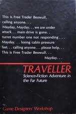 Traveller the original edition in the little black box of little black books (LBBs). First released in 1977, the oldest surviving SF RPG.known as CT or T1. One of my first two RPGs and I still have it.